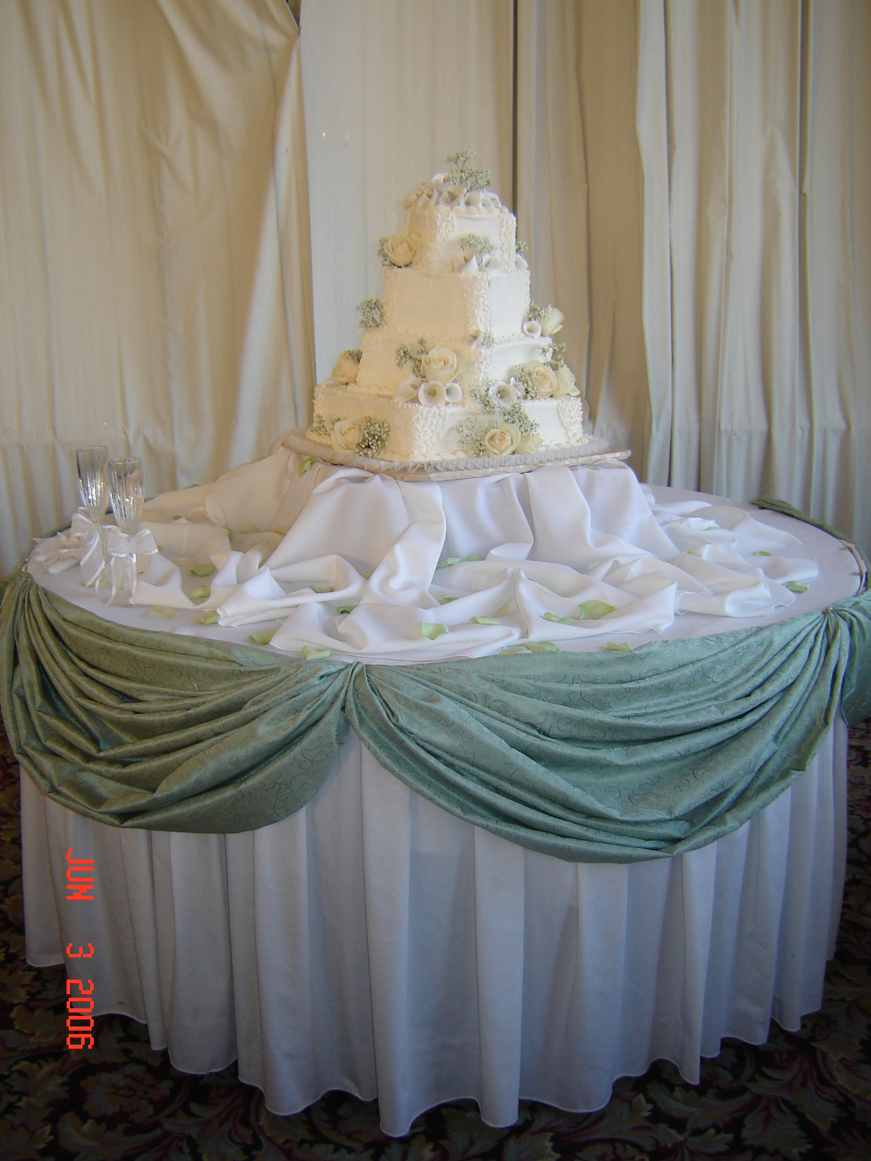 Simply Elegant Weddings Table Swags Linen Rentals Fort