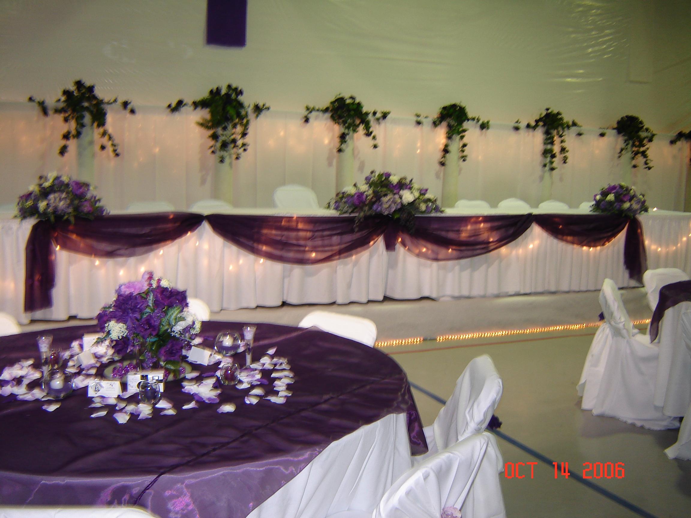 Simply Elegant Weddings Table Swags Linen Rentals Fort