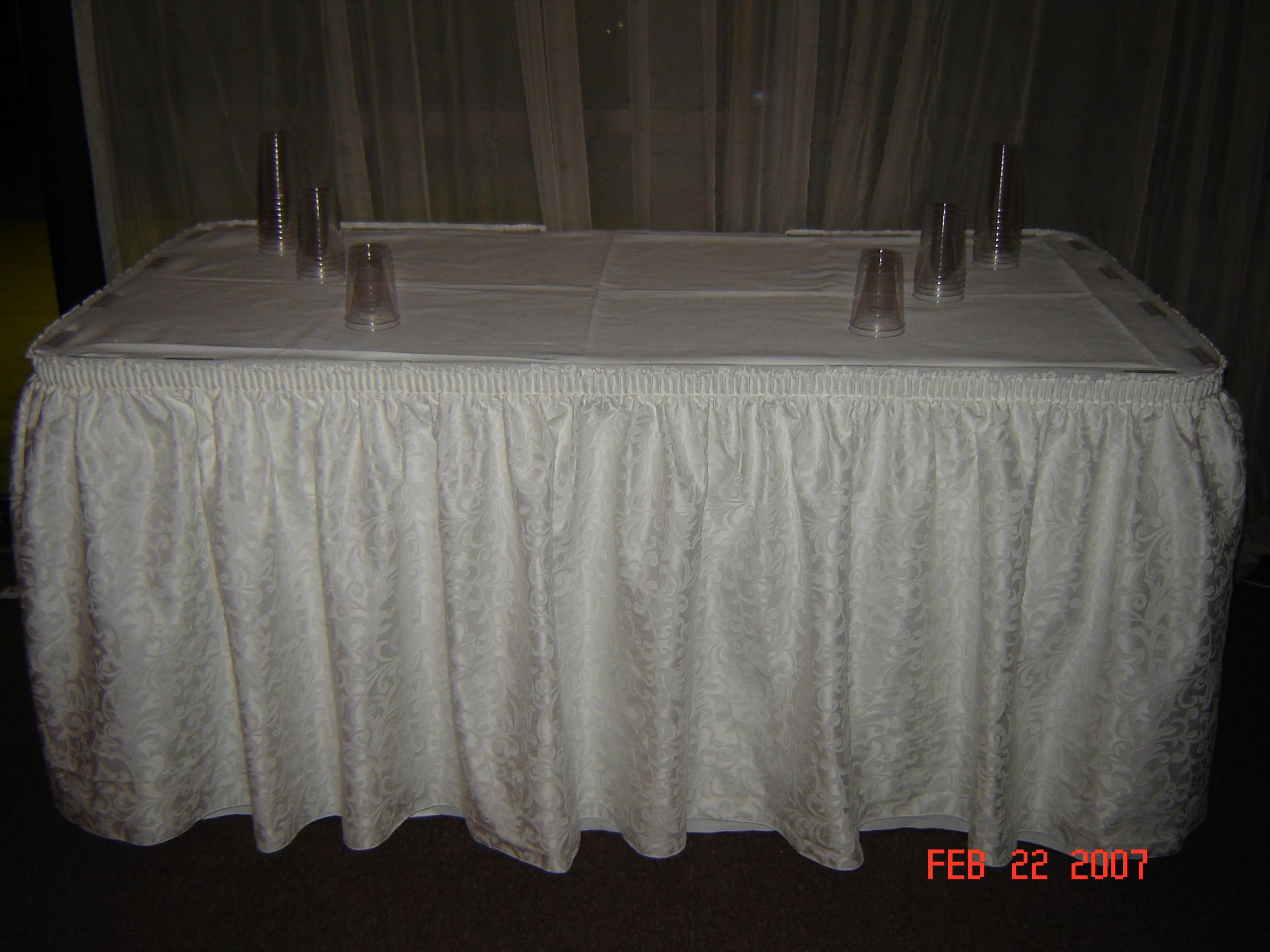 Simply Elegant Weddings Table Skirting Linen Rentals