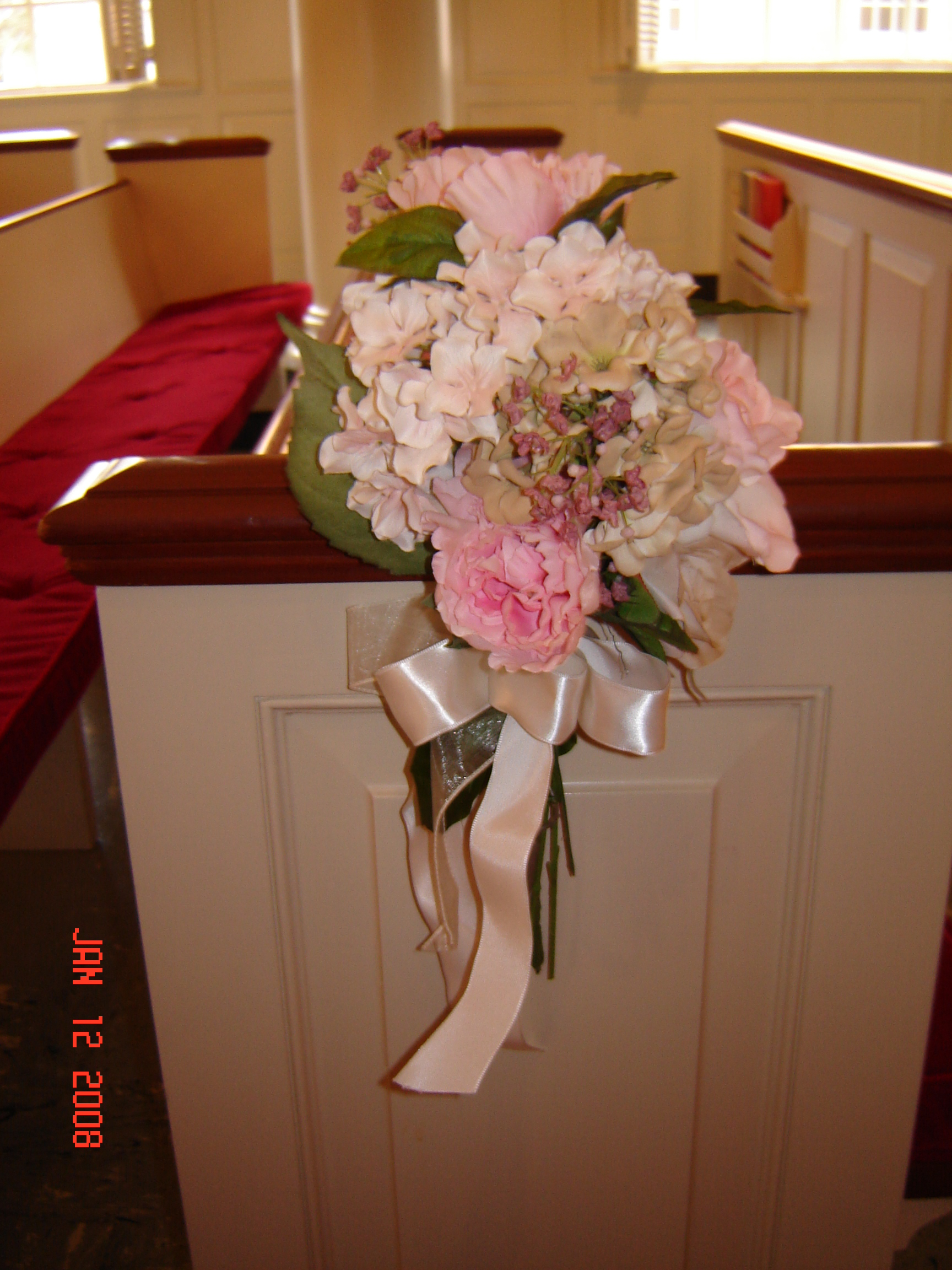 Simply elegant weddings flowers silk flowers silk bouquets aisle arrangement rentals small 1250 medium 2500 shown above large 40 above photo taken at robert karr chapel mightylinksfo