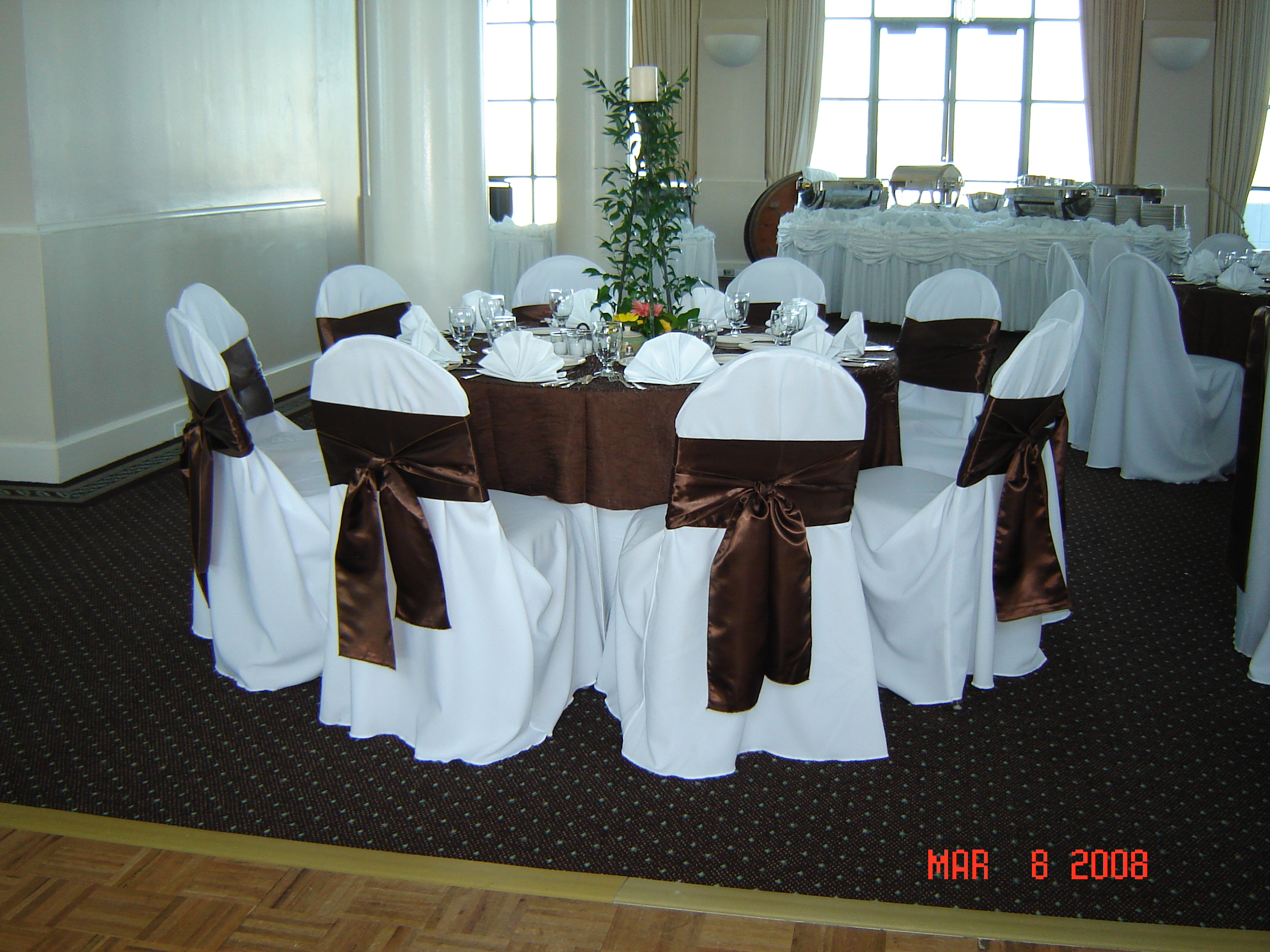 Simply Elegant Weddings Chair Cover Rentals Universal Polyester