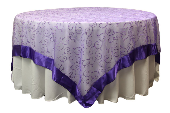 Simply Elegant Weddings Linen Rentals Organza Swirl