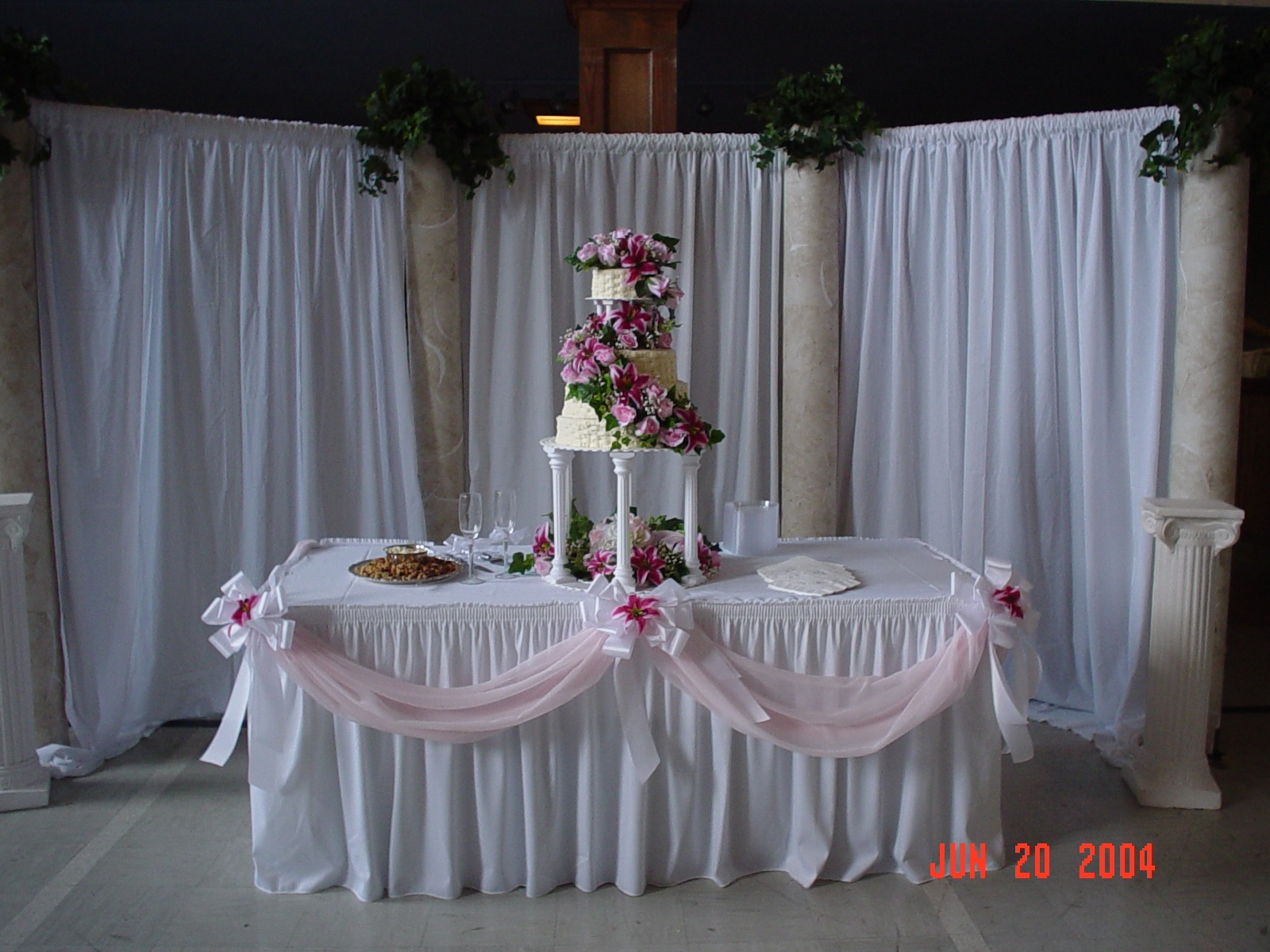 Simply elegant weddings arches backdrops arbors gazebos for Wedding backdrops